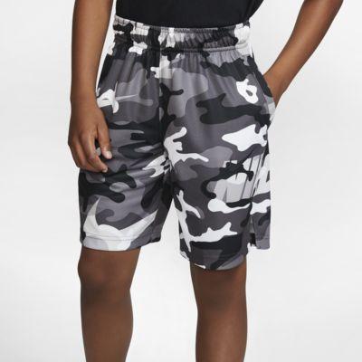 Short de training camouflage Nike Dri-FIT pour Garçon