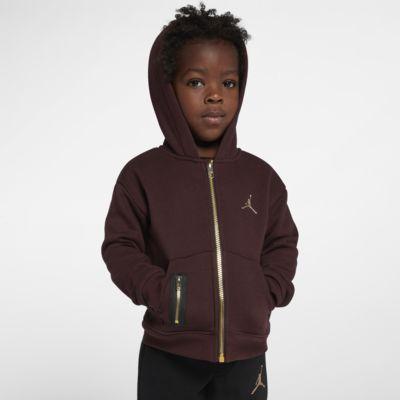 Jordan-hættetrøje med lynlås til småbørn