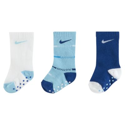 Nike Baby JDI Gripper Crew Socks (3 Pairs)
