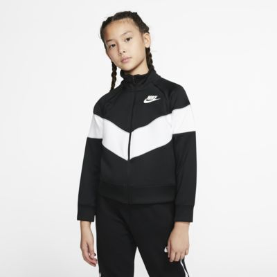 Chamarra de cierre completo para niña talla grande Nike Sportswear Heritage