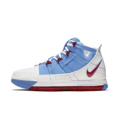 Купить Мужские кроссовки Zoom LeBron 3 QS, Синий/Белый/Красный, 22736527, 12530542