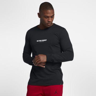 "Купить Мужская футболка с длинным рукавом Jordan Sportswear AJ 3 ""Do You Know?"""