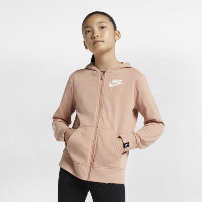Felpa con cappuccio e zip a tutta lunghezza Nike Air - Ragazza