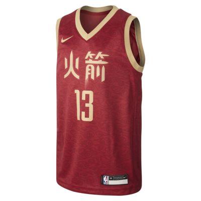 Camisola NBA da Nike James Harden City Edition Swingman (Houston Rockets) Júnior