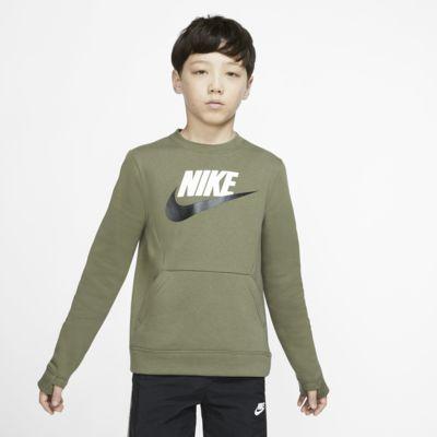 Mikina s kulatým výstřihem Nike Sportswear Club Fleece pro větší děti