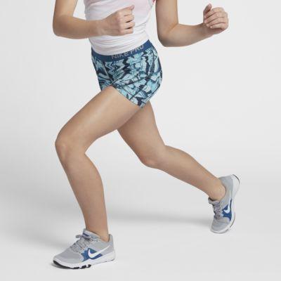 Купить Шорты для тренинга с принтом девочек школьного возраста Nike Pro 10 см