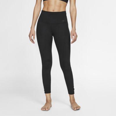 Nike Dri-FIT Power treningstights for yoga med 7/8 lengde til dame