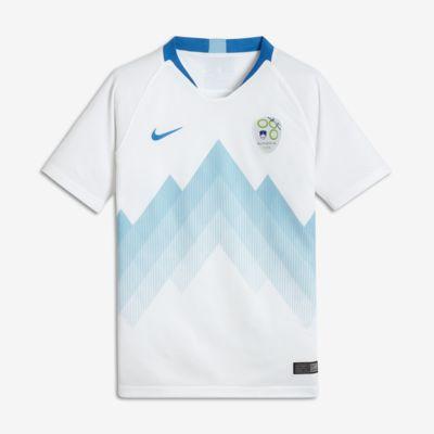 2018 Slowenien Stadium Home Fußballtrikot für ältere Kinder