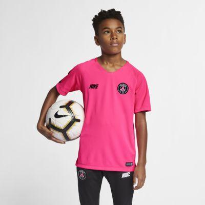 Top de fútbol de manga corta para niños talla grande Nike Breathe Squad