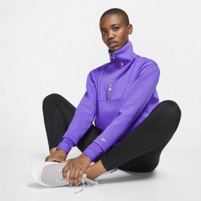 Женская укороченная флисовая футболка Nike Pro