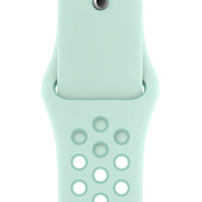 Apple Watch Nike 40 mm-es árnyalt récezöld/trópusi sodrás sportszíj