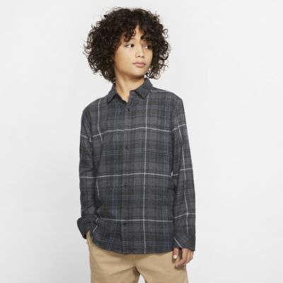 Hurley Vedder Washed Boys' Long-Sleeve Shirt