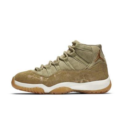 Купить Женские кроссовки Air Jordan 11 Retro, Нейтральный оливковый/Парус/Светло-коричневая резина/Коричневый металлик, 22596689, 12483285