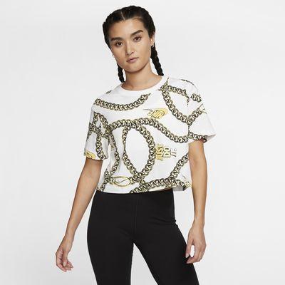 Женская укороченная футболка Nike Sportswear Icon Clash