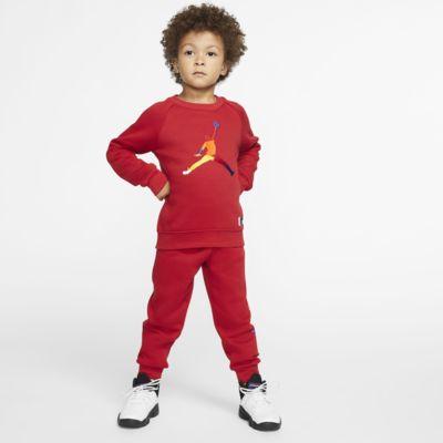 Jordan Jumpman-sæt med 2 dele med trøje med rund hals og joggingbukser til småbørn