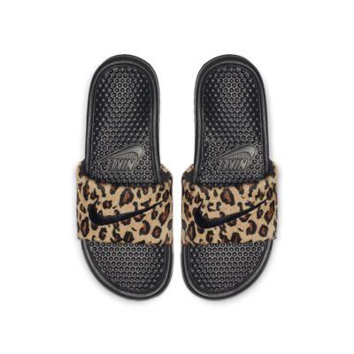 Claquette Nike Benassi JDI SE Animal pour Femme