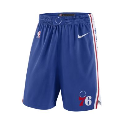 Philadelphia 76ers Nike Icon Edition Swingman NBA-s férfi rövidnadrág