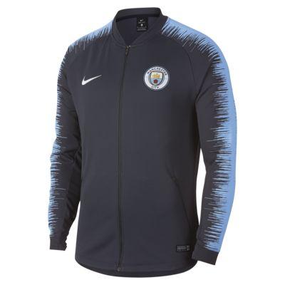 Chamarra de fútbol para hombre Manchester City FC Anthem
