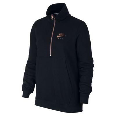 Haut à demi-zip en tissu Fleece Nike Air pour Femme