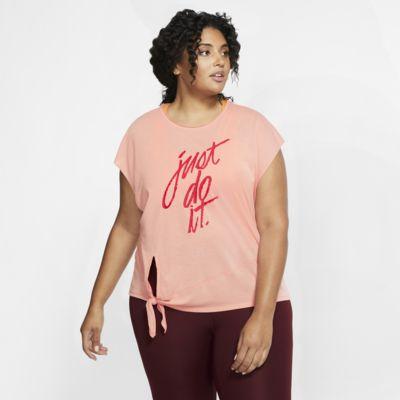 Nike Dri-FIT kurzarm-Trainingsoberteil mit Grafik für Damen (große Größe)