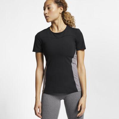 Haut à manches courtes Nike Pro pour Femme