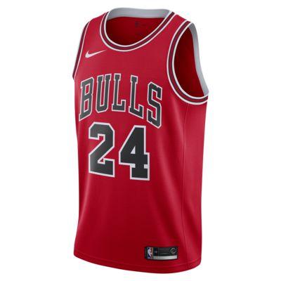 Camiseta conectada Nike NBA para hombre Lauri Markkanen Icon Edition Swingman (Chicago Bulls)