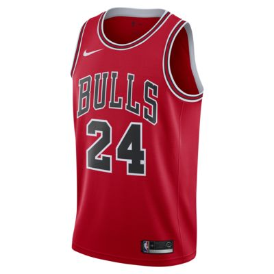 Camiseta Swingman Nike NBA para hombre Lauri Markkanen Bulls Icon Edition