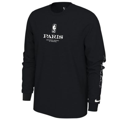 Nike 'Paris' Men's Long-Sleeve NBA T-Shirt