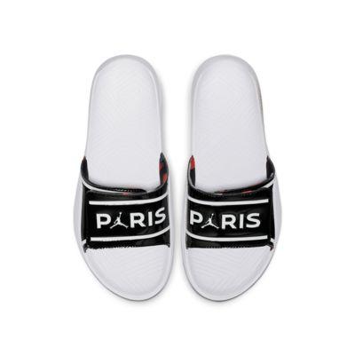 Купить Мужские шлепанцы Jordan Hydro 7 V2 Paris Saint-Germain, Черный/Белый/Белый, 23452031, 12657533