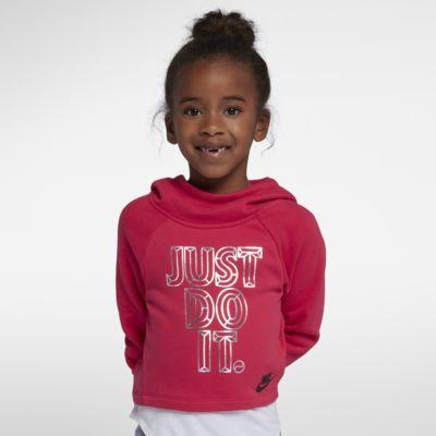 Krátká mikina s kapucí Nike Sportswear pro malé děti