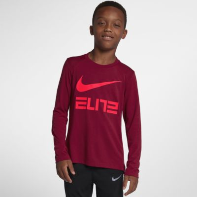 Nike Dri-FIT Elite Big Kids' (Boys') Long Sleeve Basketball Top