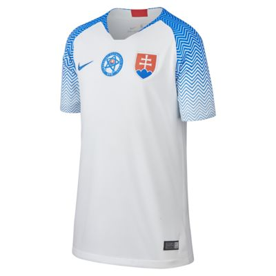 Maillot de football 2018 Slovakia Stadium Home pour Enfant plus âgé