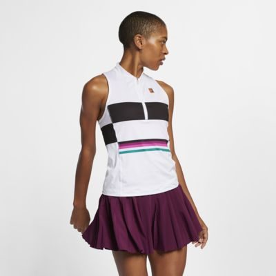 Camiseta de tirantes de tenis con estampado para mujer NikeCourt Power Slam
