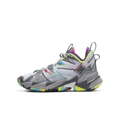 "Jordan ""Why Not?"" Zer0.3 Big Kids' Basketball Shoe"