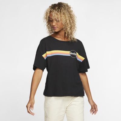 Hurley Jammer Stripe Flouncy Women's T-Shirt