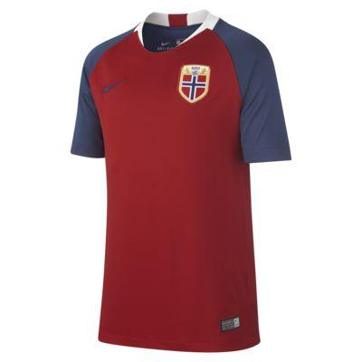 Camiseta de fútbol para niños talla grande 2018 Norway Stadium Home