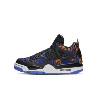 Купить Кроссовки для школьников Air Jordan 4 Retro SE, Черный/Rush Violet/Синий/Белый, 23745145, 12715833