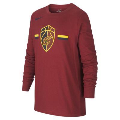 Cleveland Cavaliers Nike Dri-FIT Logo-langærmet NBA-T-Shirt til store børn