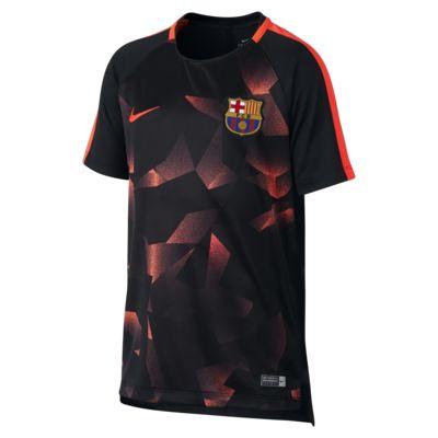 FC Barcelona Dri-FIT Squad 大童短袖足球上衣