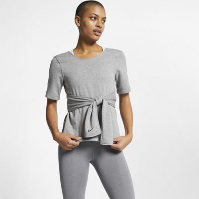 Nike Studio Women's Short-Sleeve Yoga Training Top