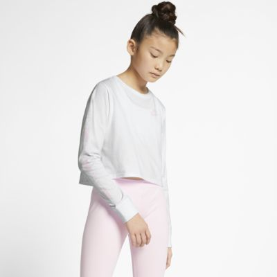 Nike Air Older Kids' (Girls') Long-Sleeve Crop Top