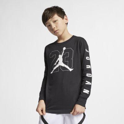 Camisola de manga comprida com grafismo Jordan Jumpman 23 Júnior (Rapaz)