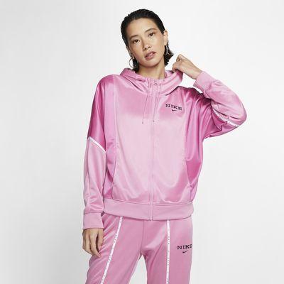 Giacca in fleece con cappuccio e zip a tutta lunghezza Nike Sportswear - Donna
