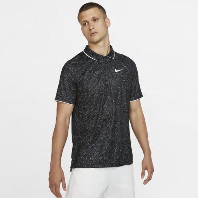Ανδρική εμπριμέ μπλούζα πόλο για τένις NikeCourt Dri-FIT