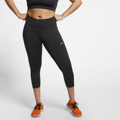 Trekvartslånga löpartights Nike Fast för kvinnor (stora storlekar)