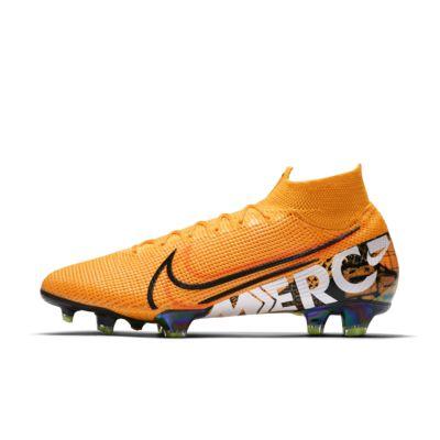 Купить Футбольные бутсы для игры на твердом грунте Nike Mercurial Superfly 7 Elite SE FG, Оранжевый лазер/Невероятный темно-красный/Бледно-салатовый/Черный, 23199981, 12627257