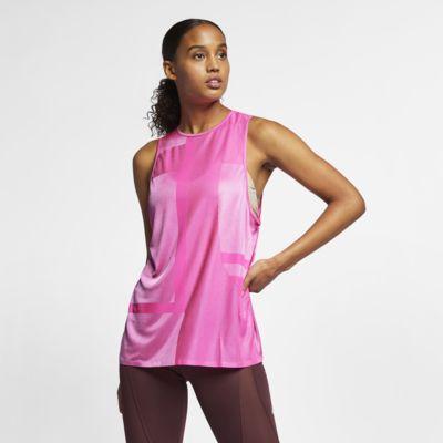 Maskinstrikket Nike-træningstanktop til kvinder