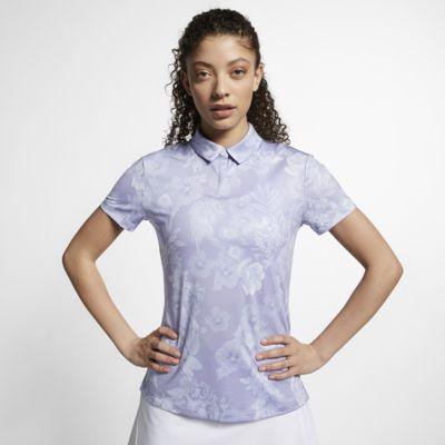 Γυναικεία εμπριμέ μπλούζα πόλο για γκολφ Nike Dri-FIT UV
