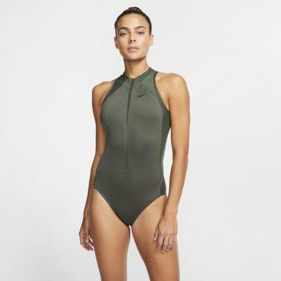 Nike Sport Mesh Women's Zip 1-Piece Swimsuit