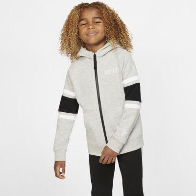 Nike Air-fleecehættetrøje med lynlås til små børn